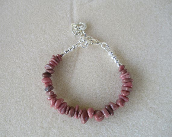 Rhodonite Chip Bracelet B921172