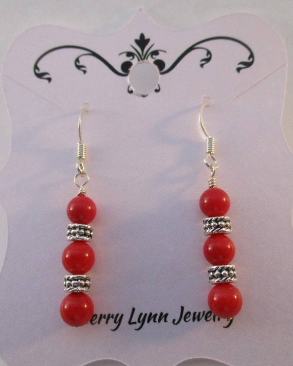 Red Coral Earrings E113177