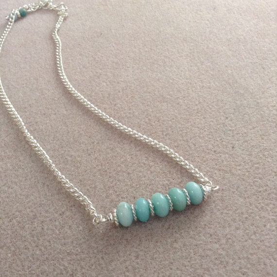 Amazonite Bar Necklace N6151725