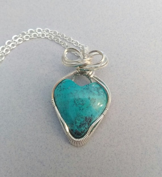 Shattuckite Wire Wrapped Pendant N816193