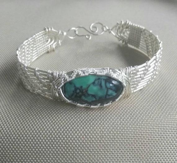 Emerald City Variscite Cuff Bracelet B911181