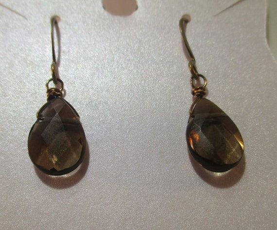 Smokey Quartz Briolette Earrings E920178