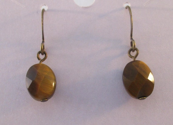 Tiger Eye Earrings E920179
