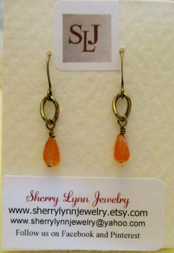 Carnelian Briolette Earrings E6151766