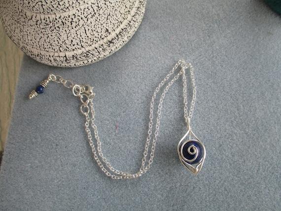 Lapis Lazuli Swirl Cage Necklace N125182