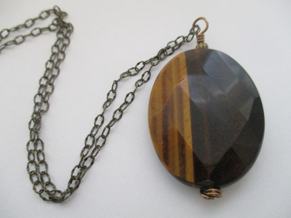 Tiger Eye Pendant Necklace N628174
