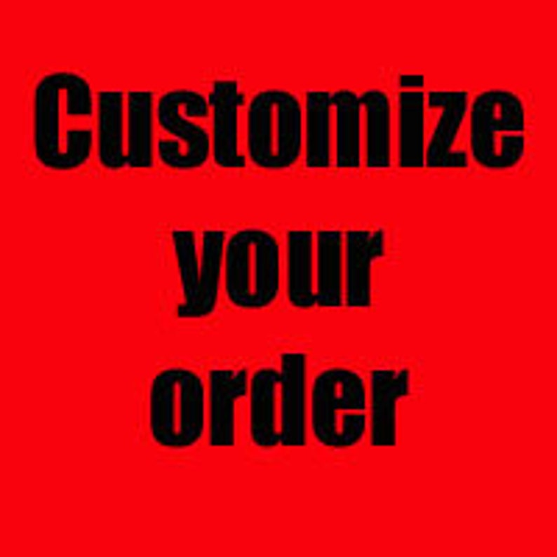 Customize Your Order And Size Chart Etsy