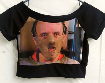 Hannibal Lecter crop top or shirt length Silence of the Lambs inspired