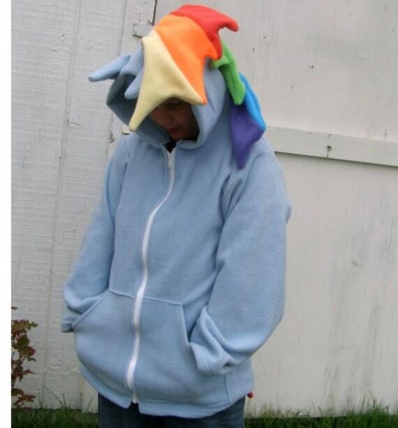 Mon petit poney Cosplay Deluxe sweat à capuche peluche veste Rainbow Dash MLP FIM