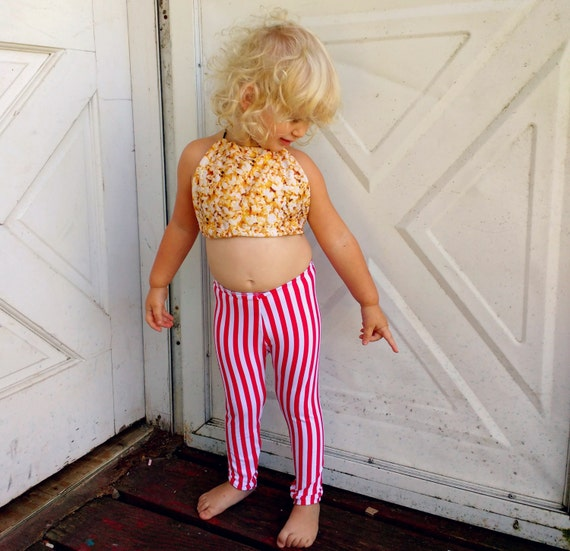 Movie Theater Popcorn Box Set Leggings Pants And Halter Top Etsy