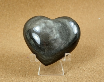 3pc Silver Sheen Obsidian Tumble Black Obsidian Pocket Stone Shimmer Silver Schiller Polished Pebble Wrappable