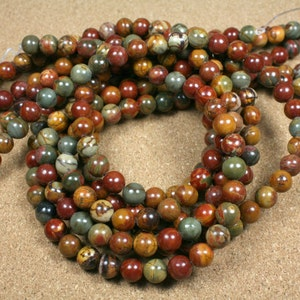 4mm Red Creek Jasper Beads Smooth Center Drilled Rondelle Beads for Jewelry Making and Supplies