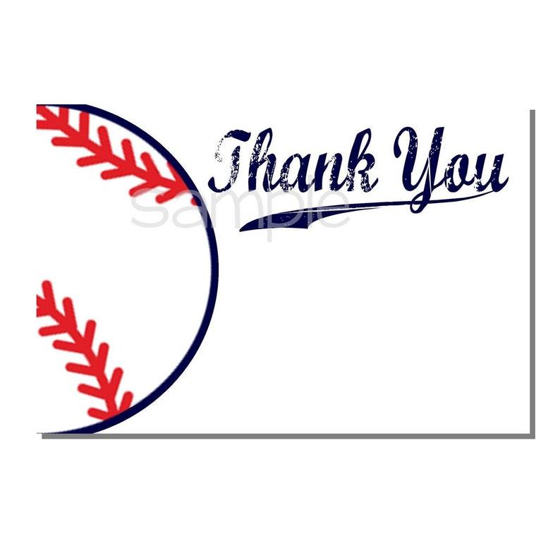Baseball Thank You Card Baby Shower  DIGITAL or PRINT image 0