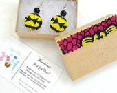 Earrings,Button Earrings,Button Earrings,African Earrings,just because gift,Fashion Earrings, gift for her, love earrings