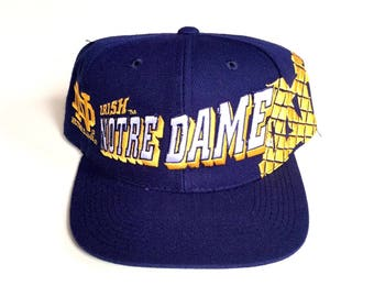 reputable site ecc82 0d66f Vintage Notre Dame Fighting Irish sports specialties snapback wool deadstock  brand new Nwot 90s