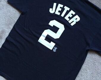 90s VTG majestic Derek Jeter New York yankees mlb baseball jersey t shirt  size XL unisex tee brand new vintage ce525a84d