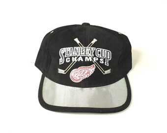 310f338d332 STARTER Detroit redwings stanley cup champions Snapback Snap back Strapback  hat One Size Adult Unisex twill nhl hockey
