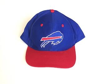 192207ad1e7 LOGO 7 Buffalo Bills NFL football Snapback hat Snap back Strapback hat One  Size Adult Unisex cotton twill 90s flourescent light up hat