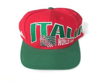 4b570f23bad5dc Italia italy italian usa world cup 1994 soccer Snapback Snap back Strapback hat  One Size Adult Unisex twill apex one