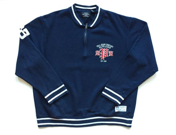 ligera 1967 English Polo Zip Sudadera Text Ralph Jeans Rpl Co Chaqueta Lauren Old Half sQtChrd
