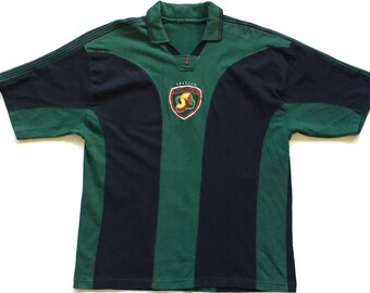 Vintage seattle supersonics 90s t shirt jersey striped multi colour block throwback shooting shirt pro player