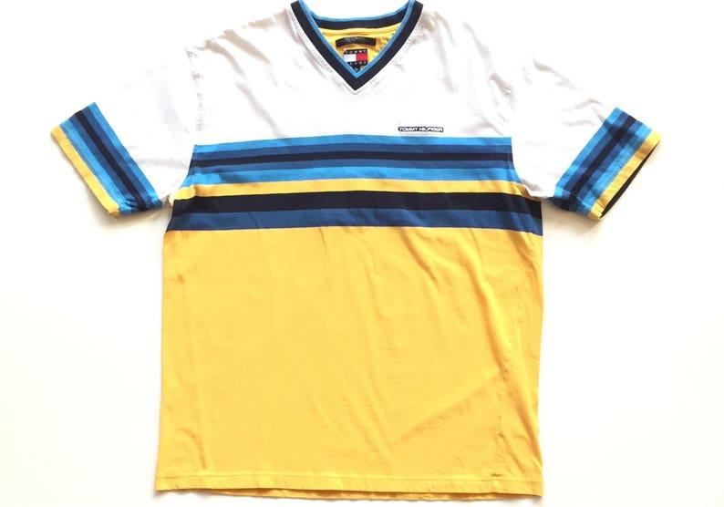 4b7ea483c8ad7b 90s Tommy Hilfiger all embroidered big h t shirt tommy big