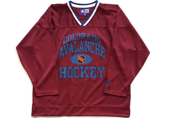 de0e18f4e57 Vintage Starter colorado avalanche joe sakic 19 Throwback NHL