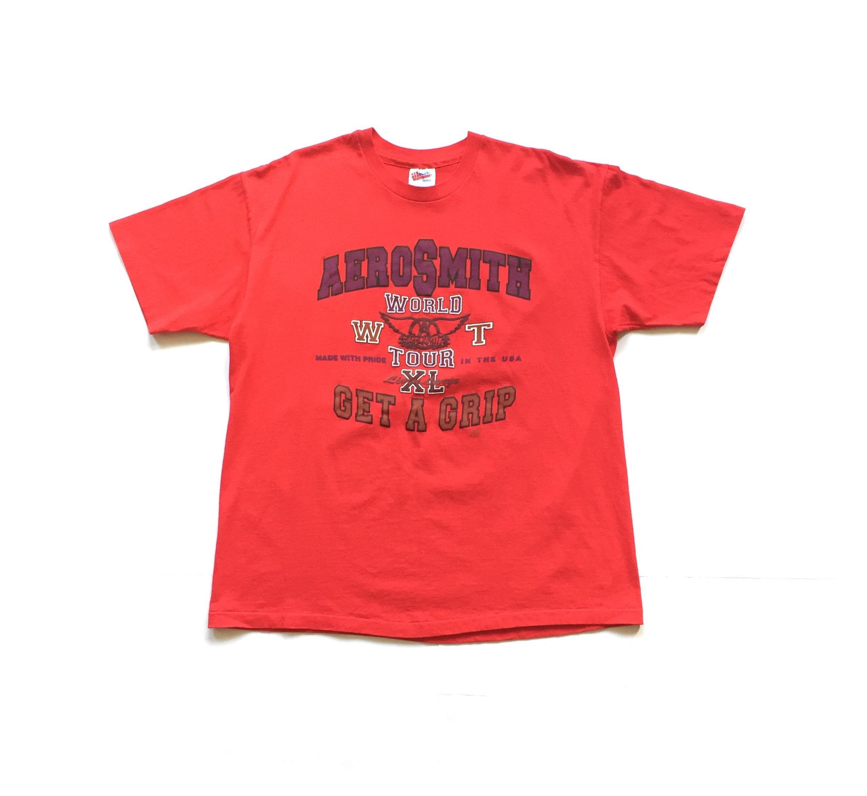 Vintage 1993 Aerosmith Get A Grip hanes tour t shirt size XL unisex adult  vtg 90s tee single stitch made in USA short sleeve shirt rock T