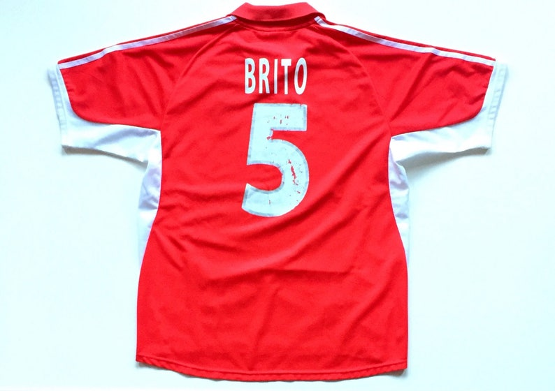 new arrival 4077f 2fbb3 Cesar Brito Sport Lisboa Benfica Vintage Adidas Portugal Soccer Jersey,  1990's official