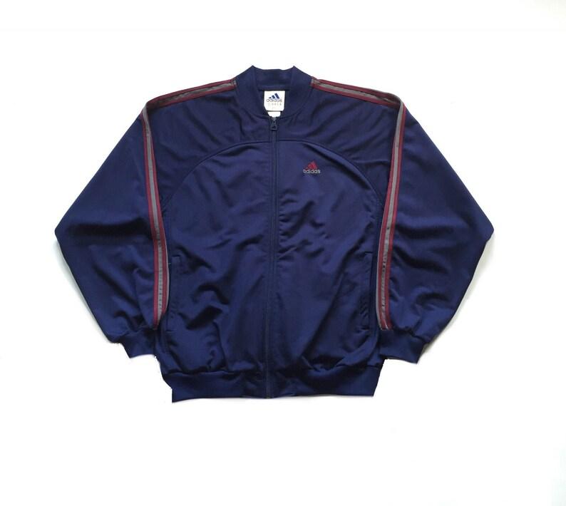quality design e5c3e 020c8 90s vintage adidas trefoil track jacket all embroidered   Etsy