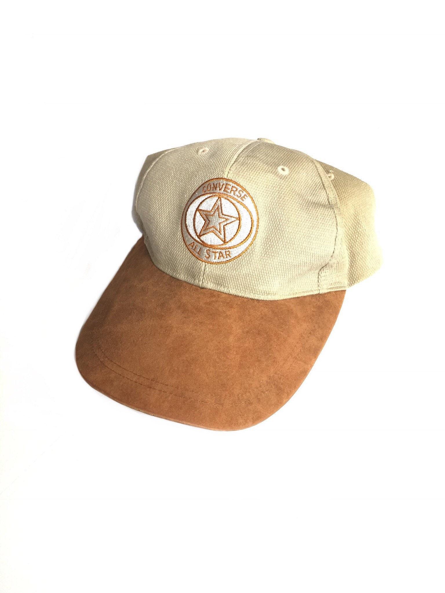 969fc1d9512 Vintage 90s chuck taylor converse snapback hat canvas suede