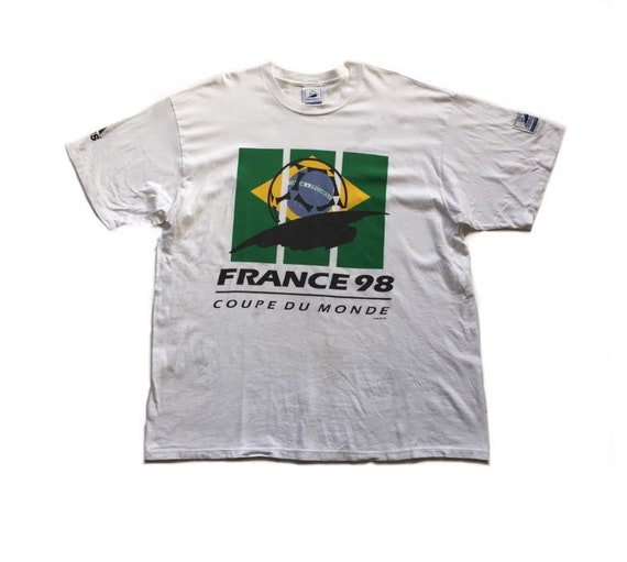 release info on factory price exclusive shoes Vtg 1998 fifa world cup France usa soccer team adidas t shirt vintage tee  size xl official 90s