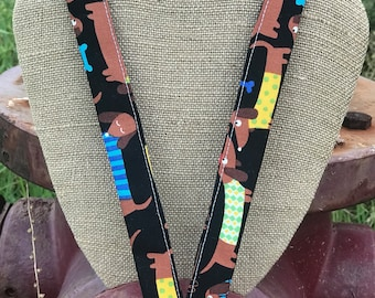 Dachshund Lanyard ID Badge Holder Wiener Dog Lanyard
