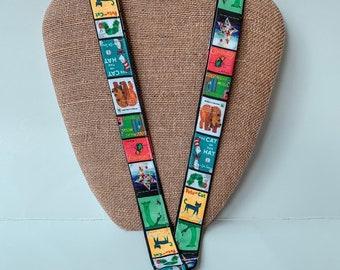 Children's Book Cover Lanyard ID Badgeholder, Book Lanyard