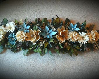 Floral swags etsy floral swag floral wreath shipping included elegant designer over door window wall arrangement fall magnolia swagfloral gift idea mightylinksfo