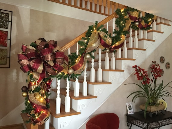 Christmas Stairway Garland Amp Post Swag Setshipping