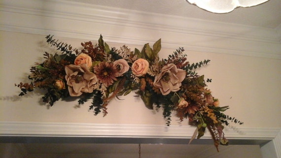 Floral swag large silk floral arrangement shipping included etsy image 0 mightylinksfo