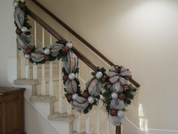 image 0 - How To Decorate A Staircase For Christmas With Deco Mesh