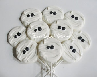 MUMMY Chocolate HALLOWEEN LOLLIPOPS*12 Count*Halloween Party*Halloween Candy*Mummy Party*Halloween Party Favor*Trick or Treat*Haunted House