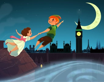 Off to Neverland! | Art Print