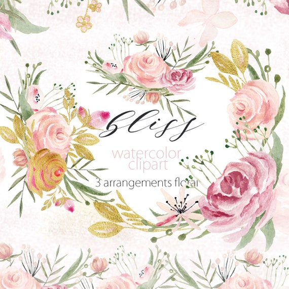 Powder pink and gold palette digital clip art soft pink etsy image 0 mightylinksfo