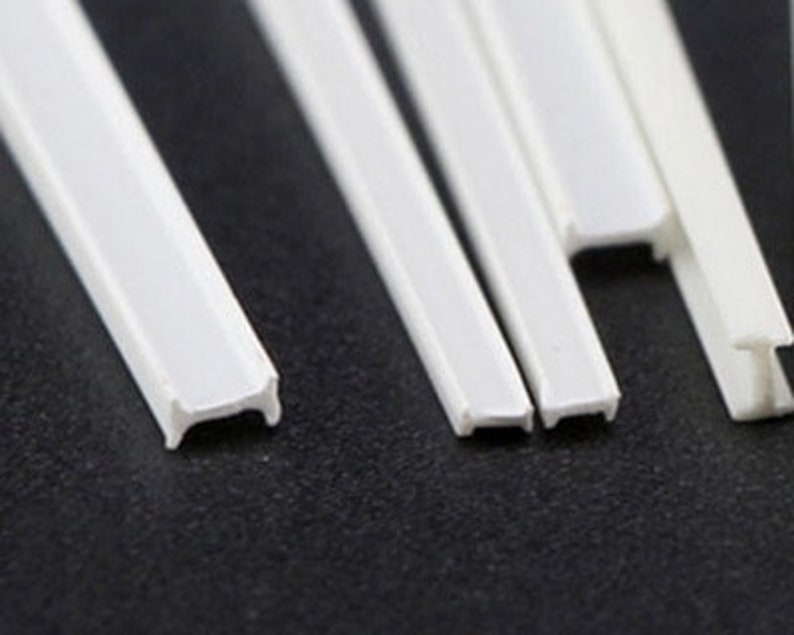 ABS Plastic Bar AM0074 H-beam Sold by Pc 1.5x2.5x250mm