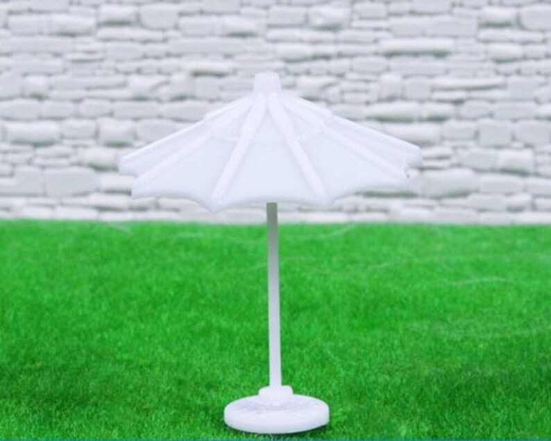   White 62mm Scale Model Umbrella Sold by Pc AM0060 1:75