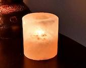 Himalayan Salt Candle Holder Cylinder Shape Candle Holder SHIPS FREE
