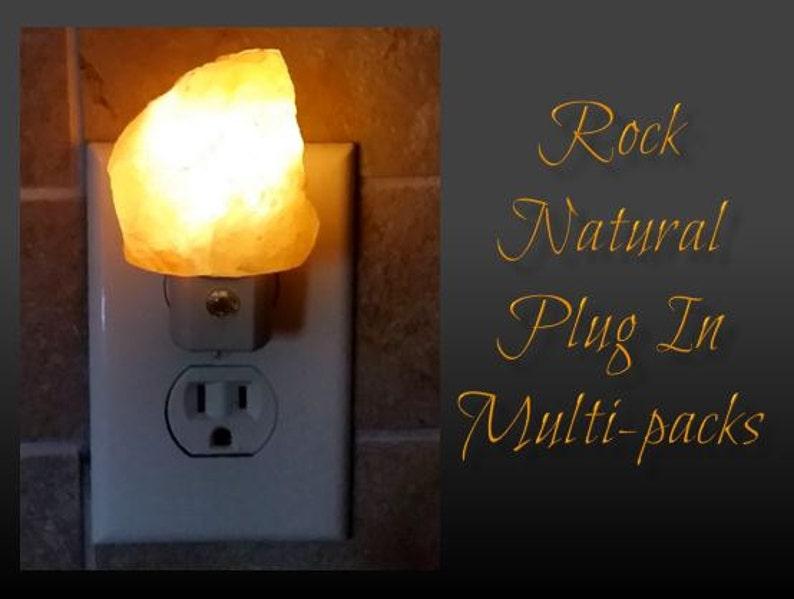 Himalayan Salt Night Light Multi-Pack Natural Rock Shape image 0