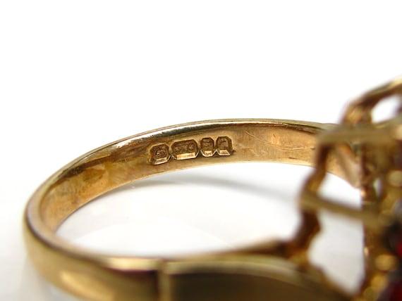 Vintage Garnet & Opal Ring Alternative Engagement… - image 7