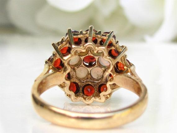 Vintage Garnet & Opal Ring Alternative Engagement… - image 6