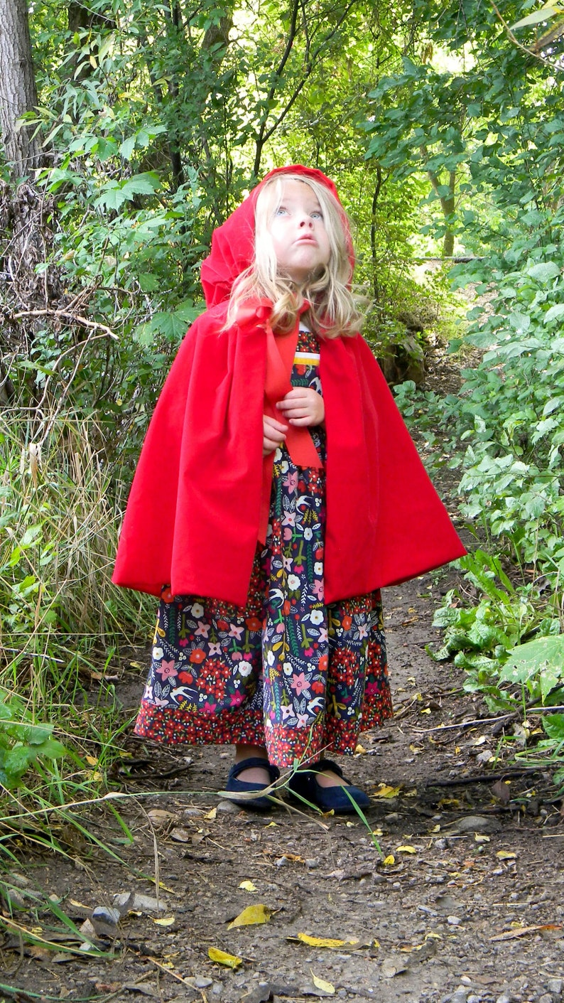 Red Riding Hood Cape Pattern size 2T