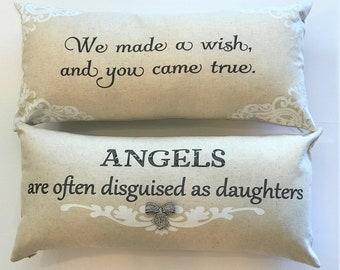 daughter gift,baby girl pillow,little girl pillow,daughter birthday gift,nursery,gift for daughter,pillow,Girls room,teen girl.little girl