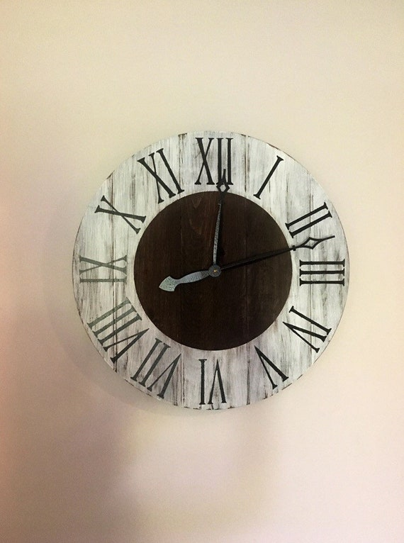 Rustic Classy Farmhouse Wood Clock Large Rustic Clock Big Etsy